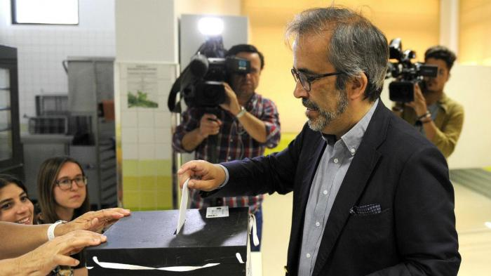 Paulo Rangel vota para as eleições europeias
