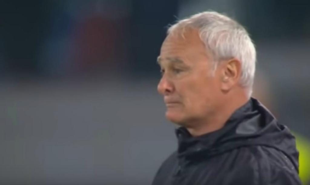 Claudio Ranieri em lágrimas na despedida da Roma (AS Roma)