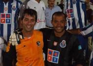 Nuno Dias com Nuno Espírito Santo, no Maria da Fonte-FC Porto, em 2007