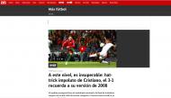 Liga das Nações: o hat-trick de Ronaldo visto pela imprensa internacional