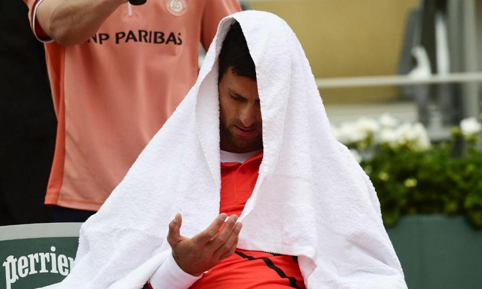 Open EUA: Djokovic abandonou durante o jogo com Wawrinka