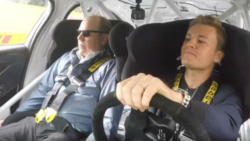 Príncipe Alberto e Niko Rosberg