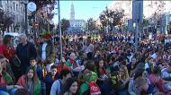 Muita gente na Avenida dos Aliados para ver a final da Liga das Nações
