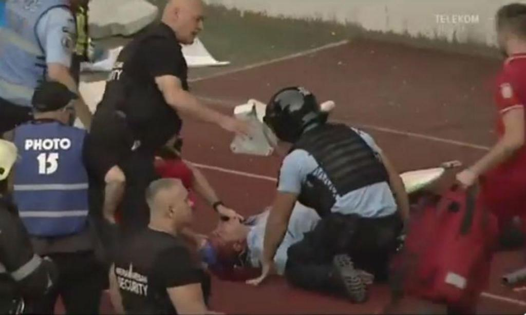 Polícia agredido