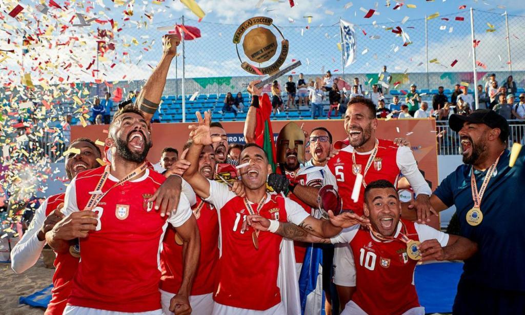 Sp. Braga campeão europeu de futebol de praia (twitter Sp. Braga)