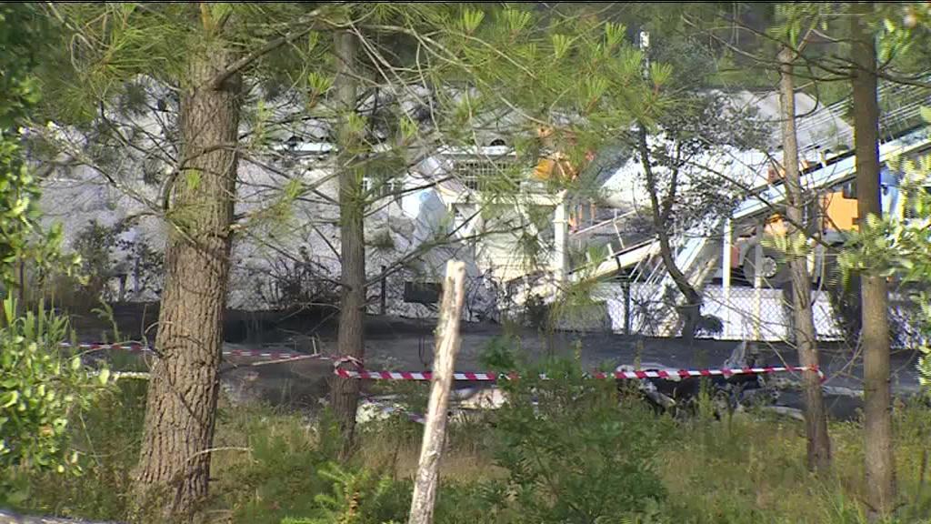 Aeronave que caiu em Leiria incendiou-se e ficou totalmente destruída