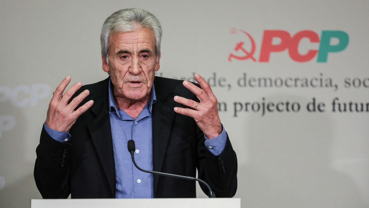 Jerónimo de Sousa na apresentação do programa eleitoral do PCP para as legislativas