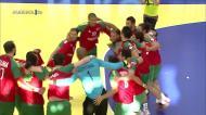 A festa de Portugal após o apuramento para o Europeu de andebol