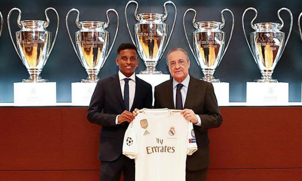 Apresentação de Rodrygo (foto Real Madrid)