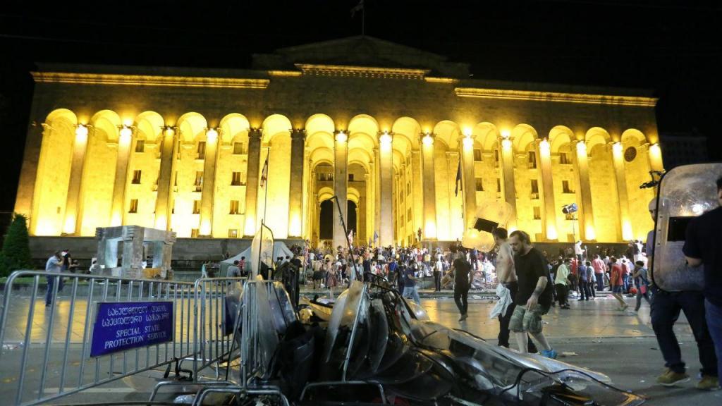 Protestos em Geórgia