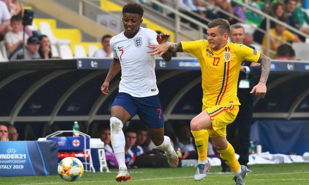 Euro sub-21: Inglaterra-Roménia (ALESSIO TARPINI/EPA)