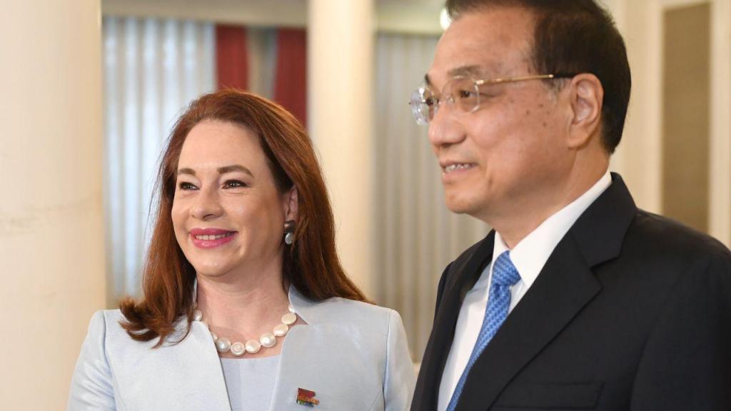 Maria Fernanda Espinosa e Wang Yi