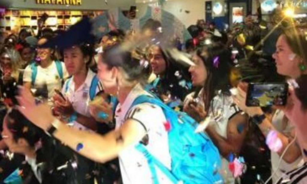 Grande receção à equipa feminina da Argentina