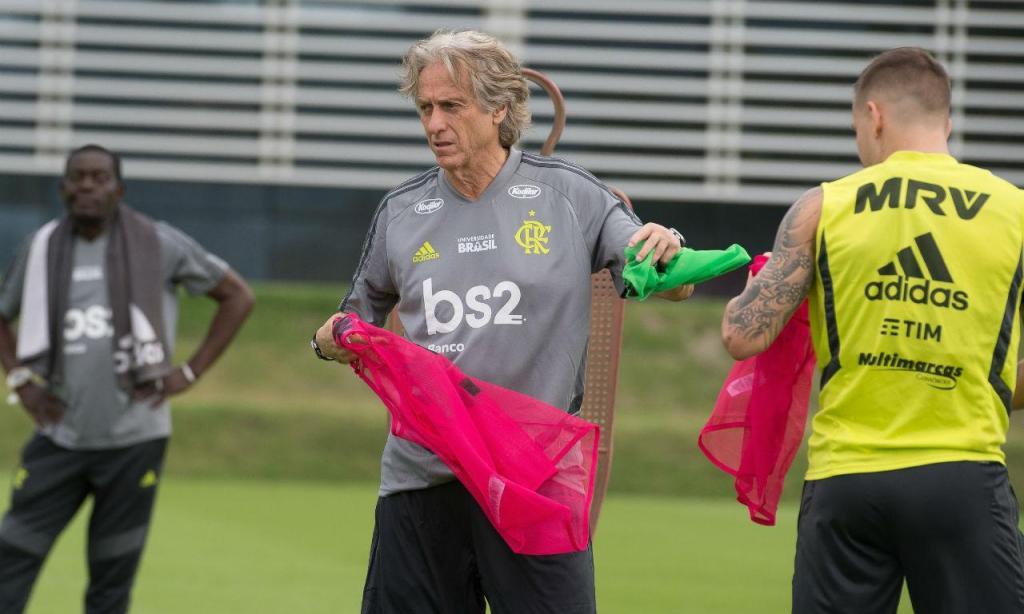 Mais um treino de Jorge Jesus no Flamengo