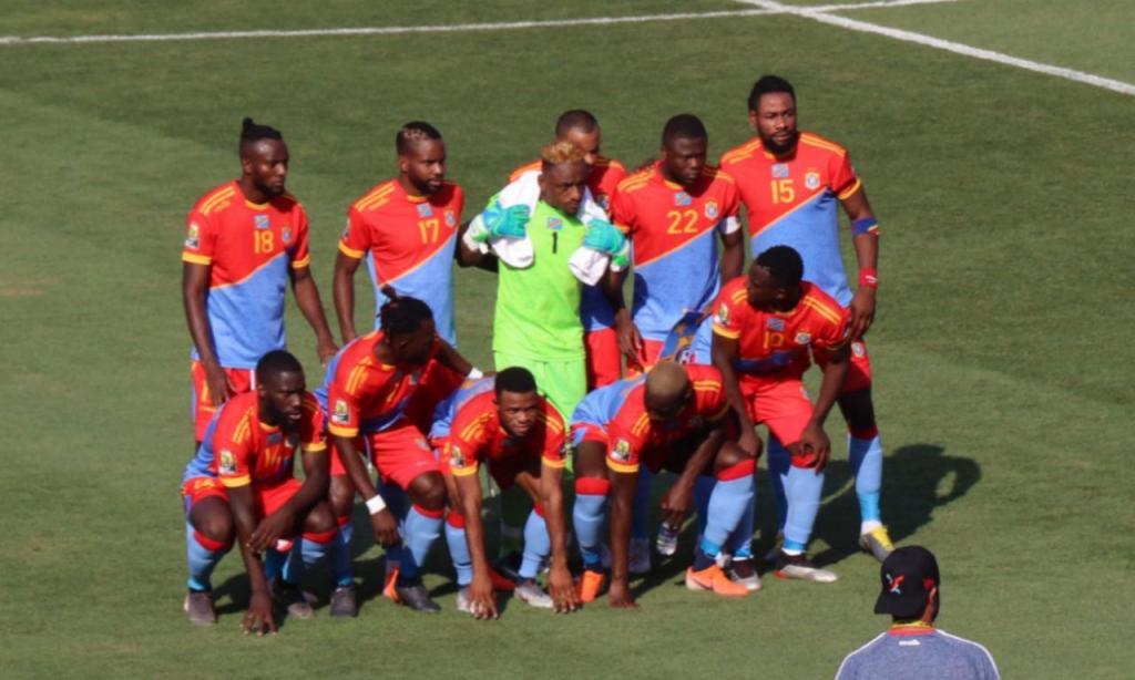 Seleção da RD Congo antes da estreia na CAN 2019