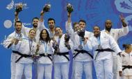 Equipa de judo mista prata em Minsk (foto Comité Olímpico de Portugal)