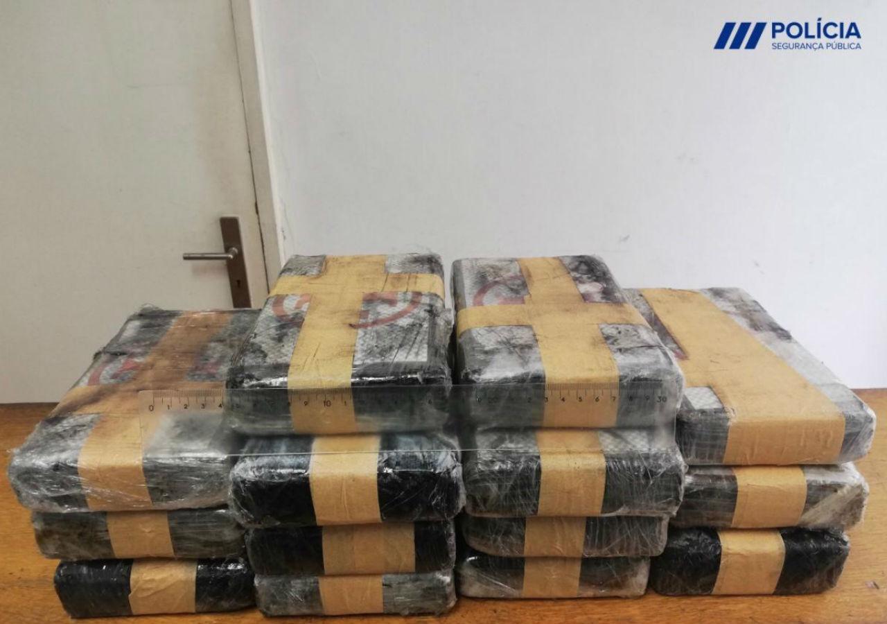 15,5 quilos de cocaína apreendida em Loulé