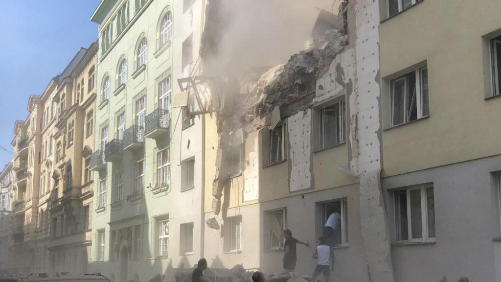 Colapso de prédio na Áustria