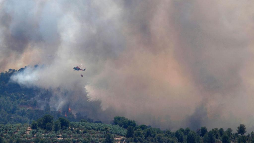 Incêndio em Torre de l'Espanyol, Tarragona, Espanha