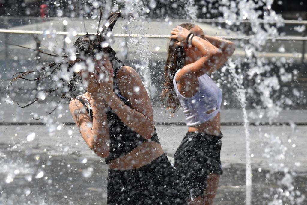 Onda de calor em Milão, Itália