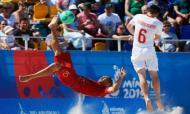 Seleção de futebol de praia nas meias-finais dos Jogos Europeus