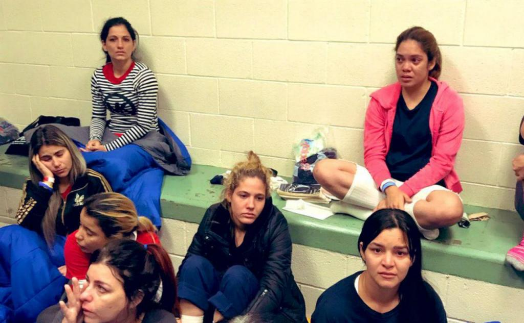 Imigrantes em centros de detenção dos EUA