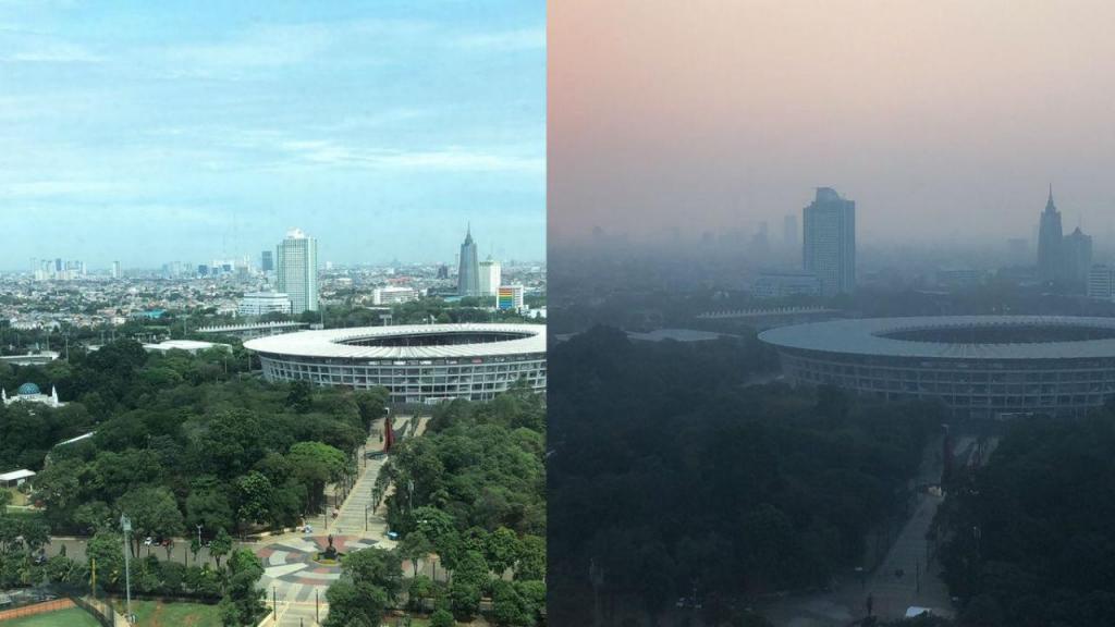A degradação da qualidade do ar em Jacarta, Indonésia