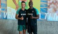 Cristiano Ronaldo com Obikwelu