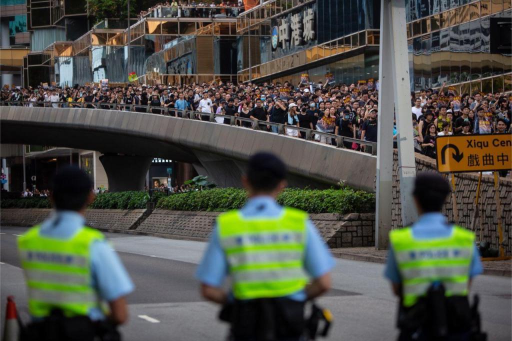 Manifestação em Hong Kong
