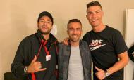 Neymar com Cristiano Ronaldo