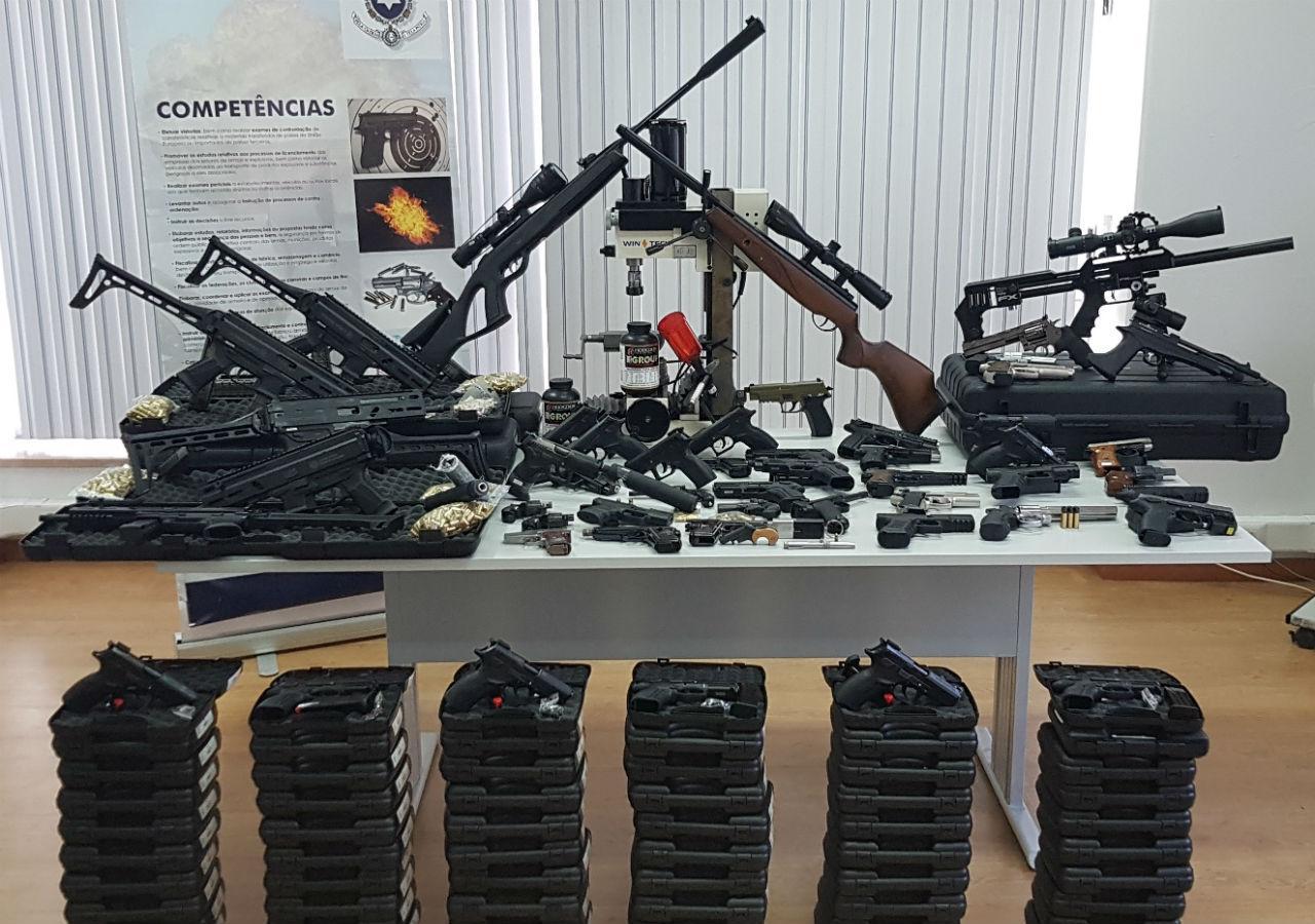 Armas apreendidas