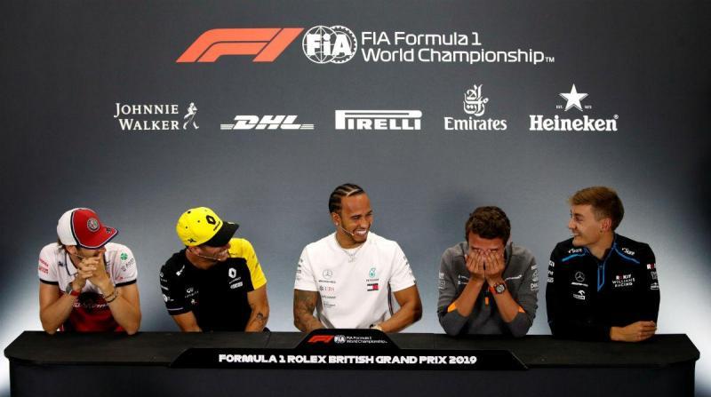 Conferência de imprensa do GP da Grã-Bretanha de F1 (Reuters)