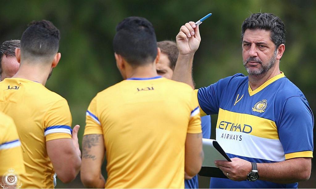 Rui Vitória dá treino em Óbidos (foto: Al Nassr)