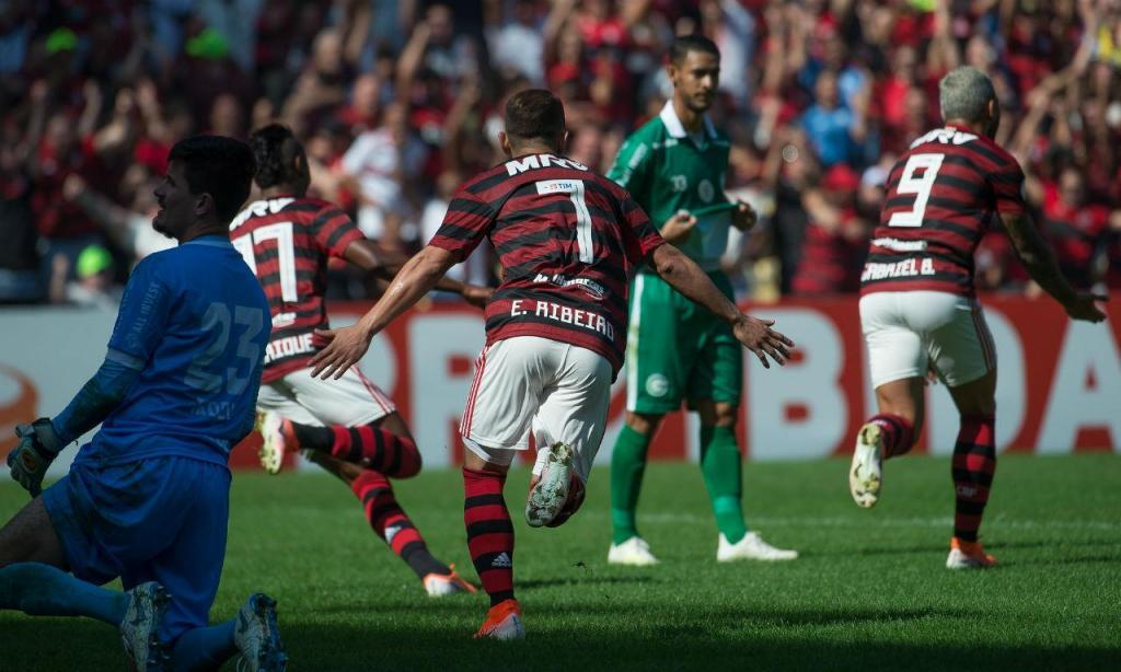 Flamengo-Goiás (fotos: Alexandre Vidal / Flamengo)
