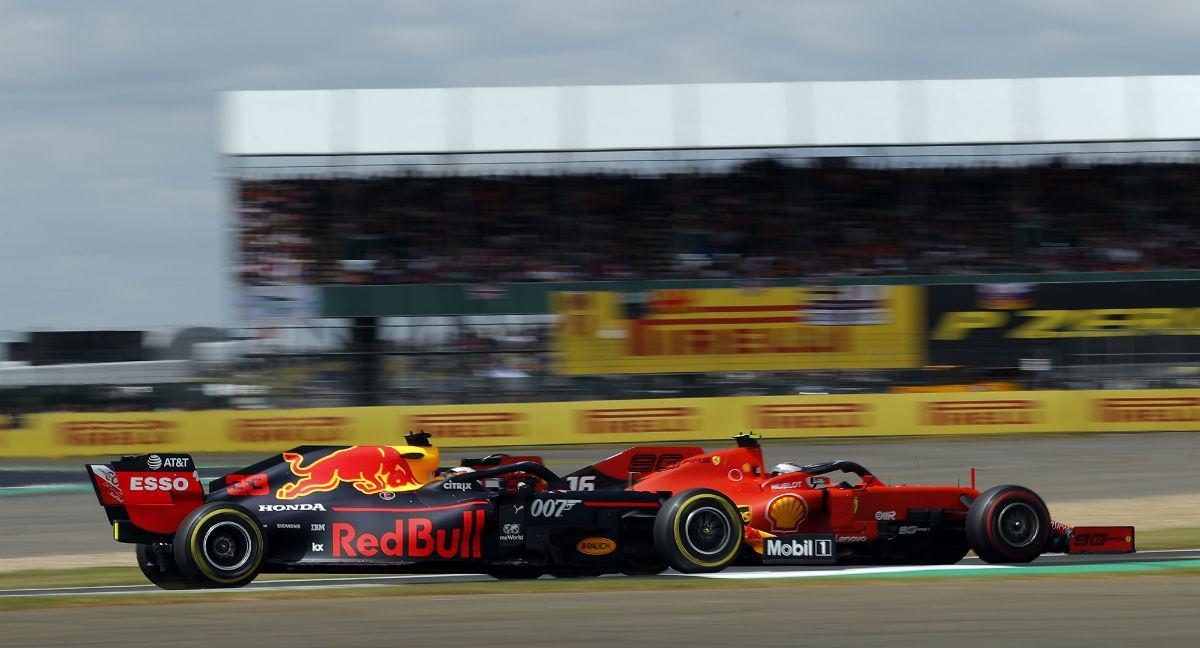 Charles Leclerc e Max Verstappen (Lusa)