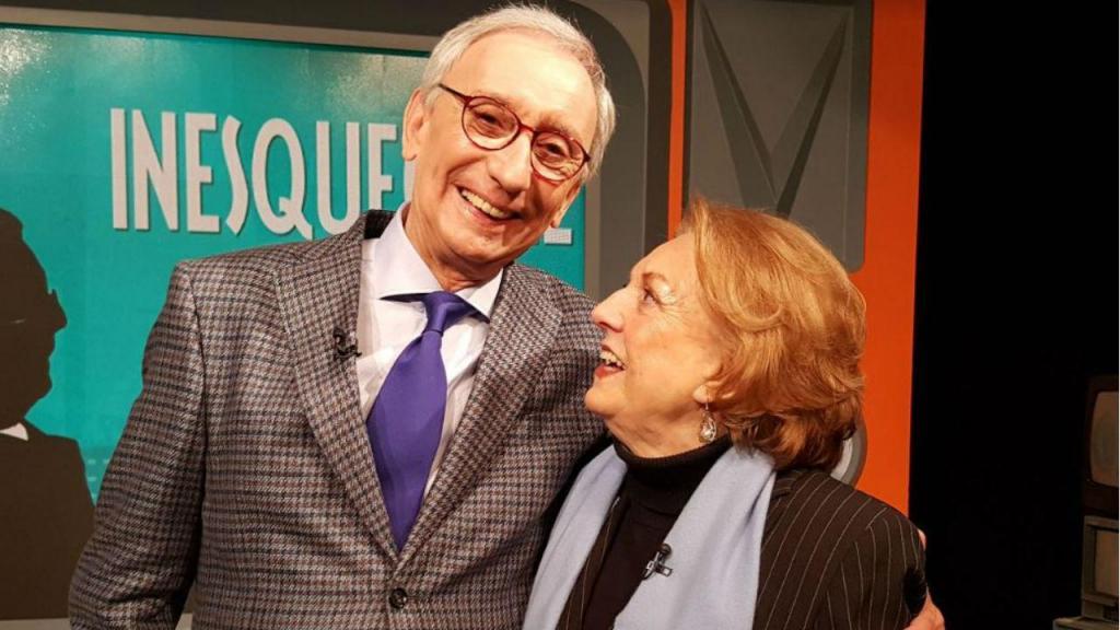 Isabel Wolmar com Júlio Isidro