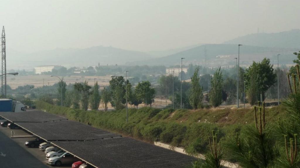 Fumo dos incêndios portugueses em Espanha