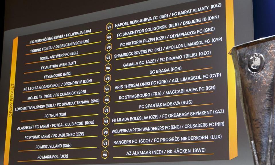 Liga Europa: todas as datas dos jogos do V. Guimarães