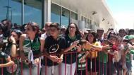 A chegada do Sporting ao Aeroporto de Beja