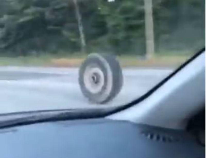 Acidente com pneu