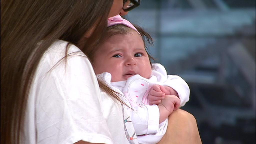 Bebé Matilde pode ficar curada já no próximo mês