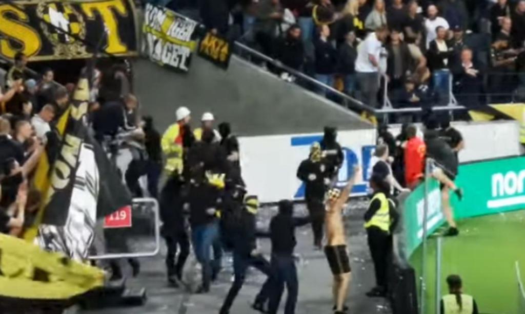 Distúrbios entre adeptos do AIK e do MAribor