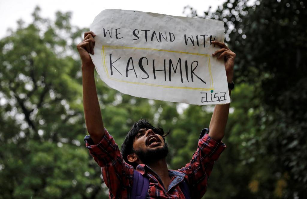 Protestos em Caxemira