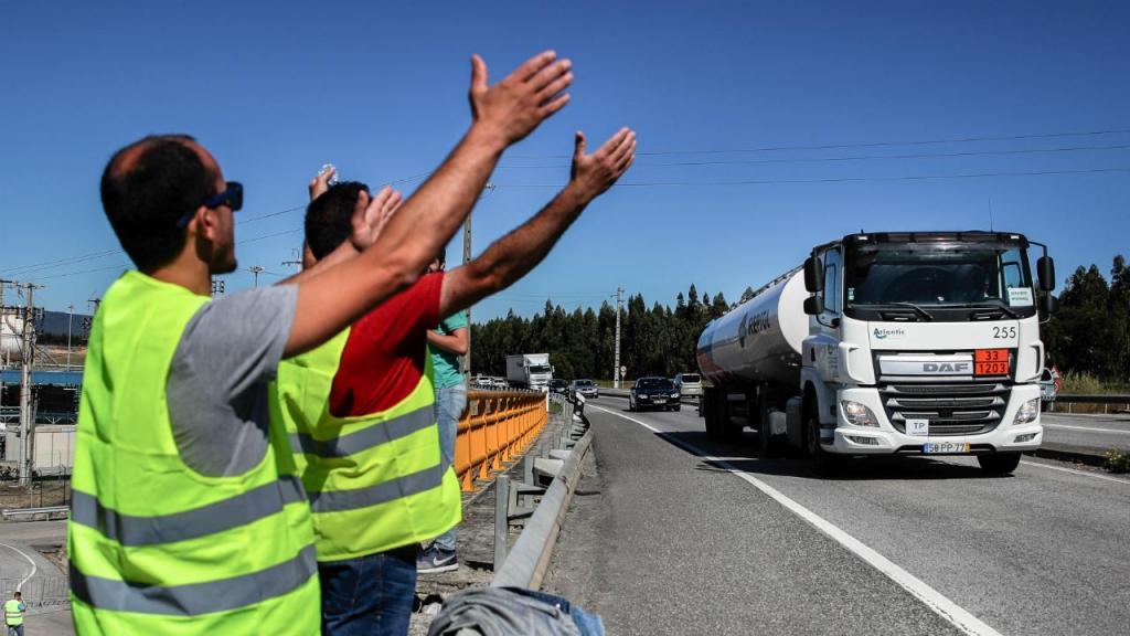Motoristas em Greve - Aveiras