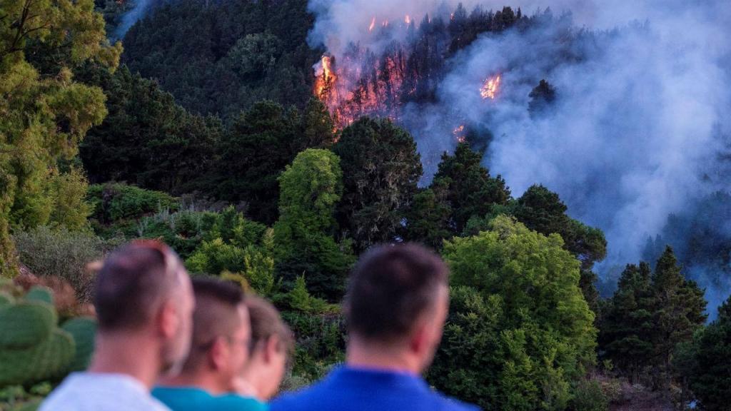 Incêndio na ilha de Gran Canaria obriga a deslocar duas mil pessoas