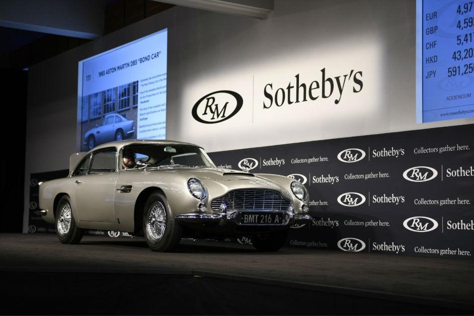 Aston Martin DB5 (reprodução Twitter RM Sotheby's)