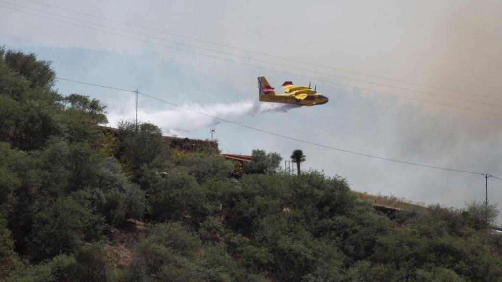 Incêndio na Grande Canária já afetou seis mil hectares e continua ativo