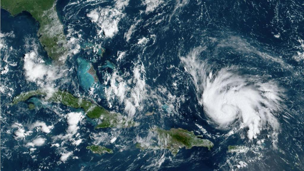 Imagem da NASA do furacão Dorian