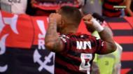 A vitória do Flamengo de Jesus sobre o Palmeiras (imagens Premiere)