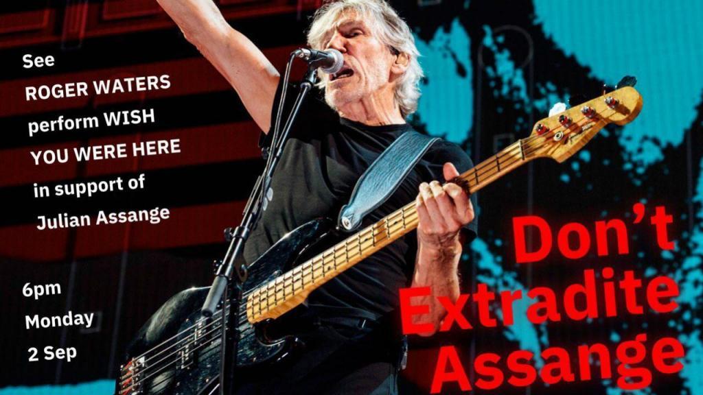 Roger Waters contra a extradição de Julian Assange